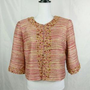 Victor Costa Pink Blazer Embellished